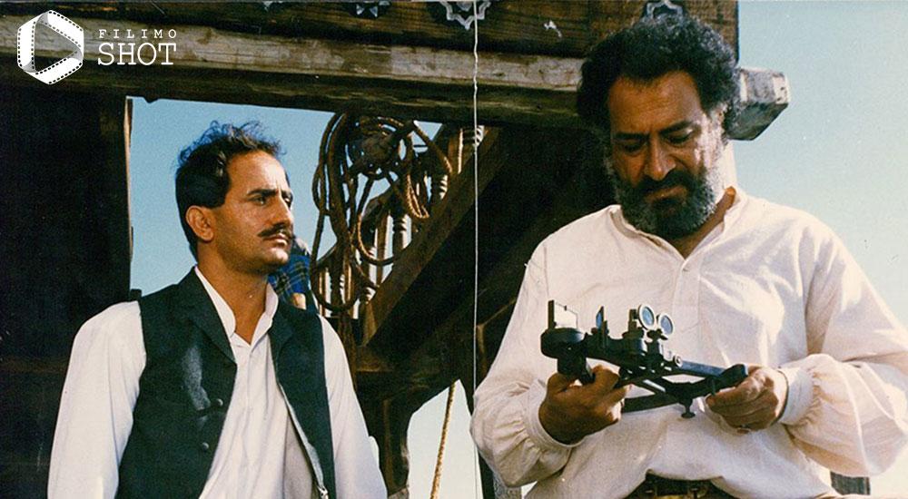 داریوش ارجمند و مجید مظفری در نمایی از فیلم تاریخی کشتی آنجلیکا